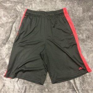 Athletech Black Red Athletic Shorts Men's Medium
